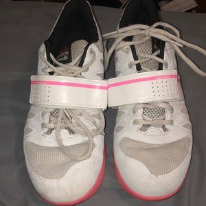 Reebok Crossfit lifters 7.5 white and pink